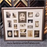 Family Photo Grouping | Custom Design and Framing by Karen's Detail Custom Frames