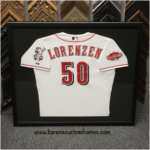Sports Jersey | Custom Design and Framing by Karen's Detail Custom Frames, Orange County CA