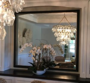 Custom Framed Mirror by Karen's Detail Custom Frames, Orange County CA