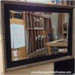 Custom Mirror | Custom Design and Framing by Karen's Detail Custom Frames