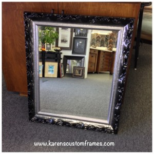 Custom Mirror available at Karen's Detail Custom Frames, Orange County CA