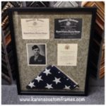Military Memorabilia Shadowbox Display | Custom Design and Framing by Karen's Detail Custom Frames