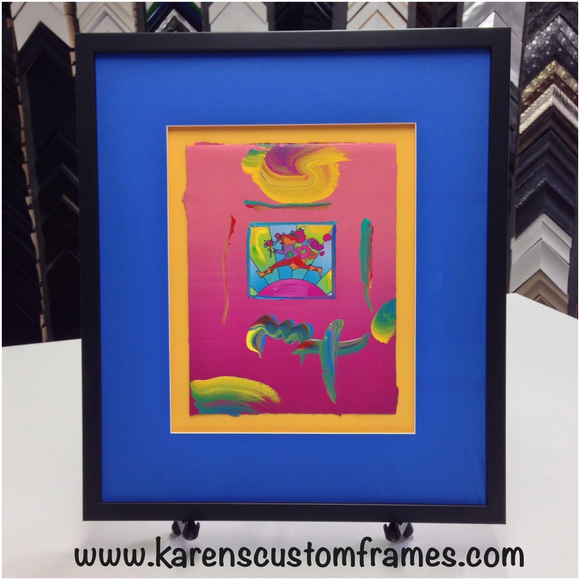 Custom Frame Colorful Art