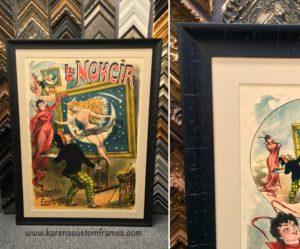 Custom Frame Vintage Poster by Karen's Detail Custom Frames, Orange County CA.