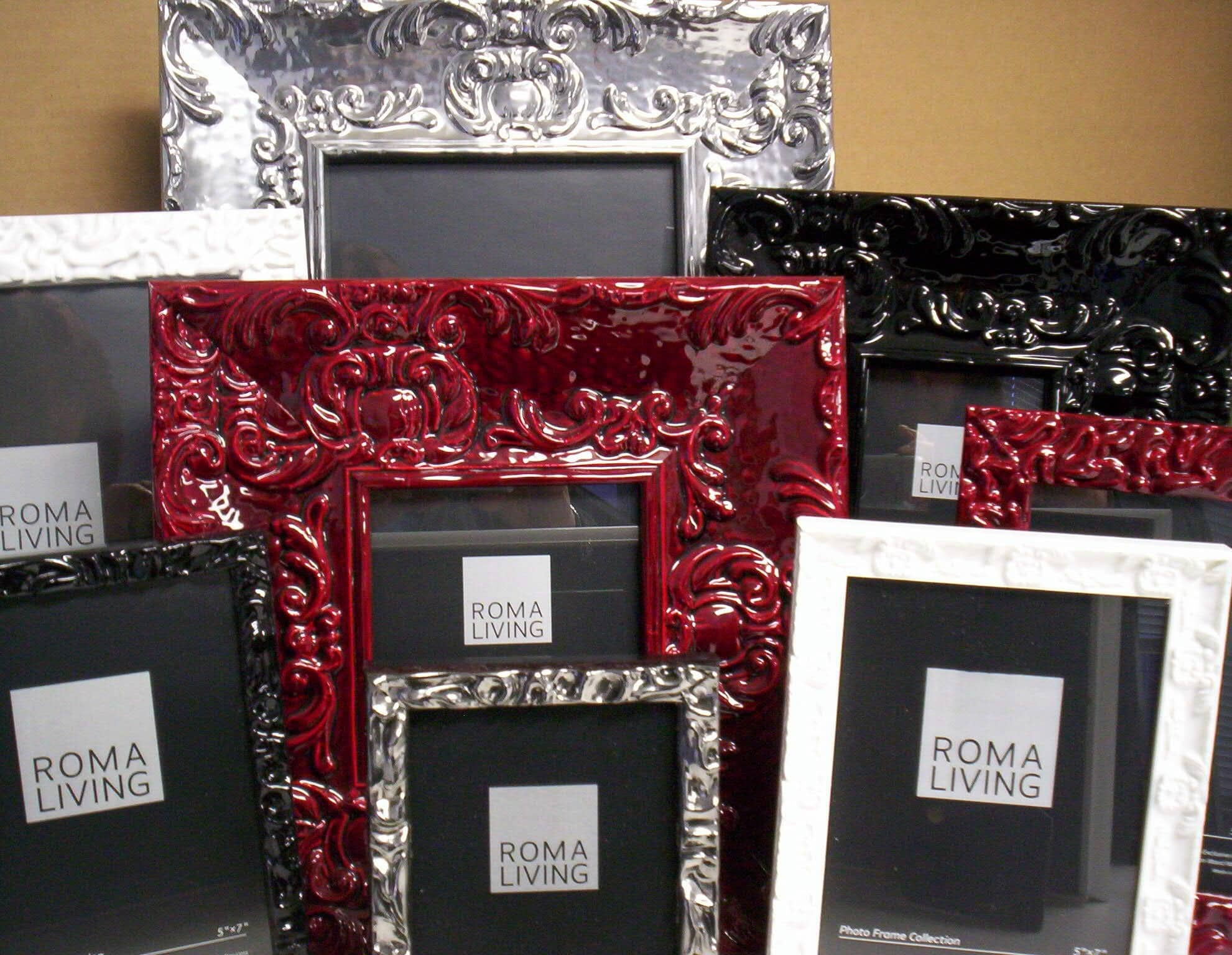 Roma Photo Frames available at Karen's Detail Custom Frames, Orange County CA