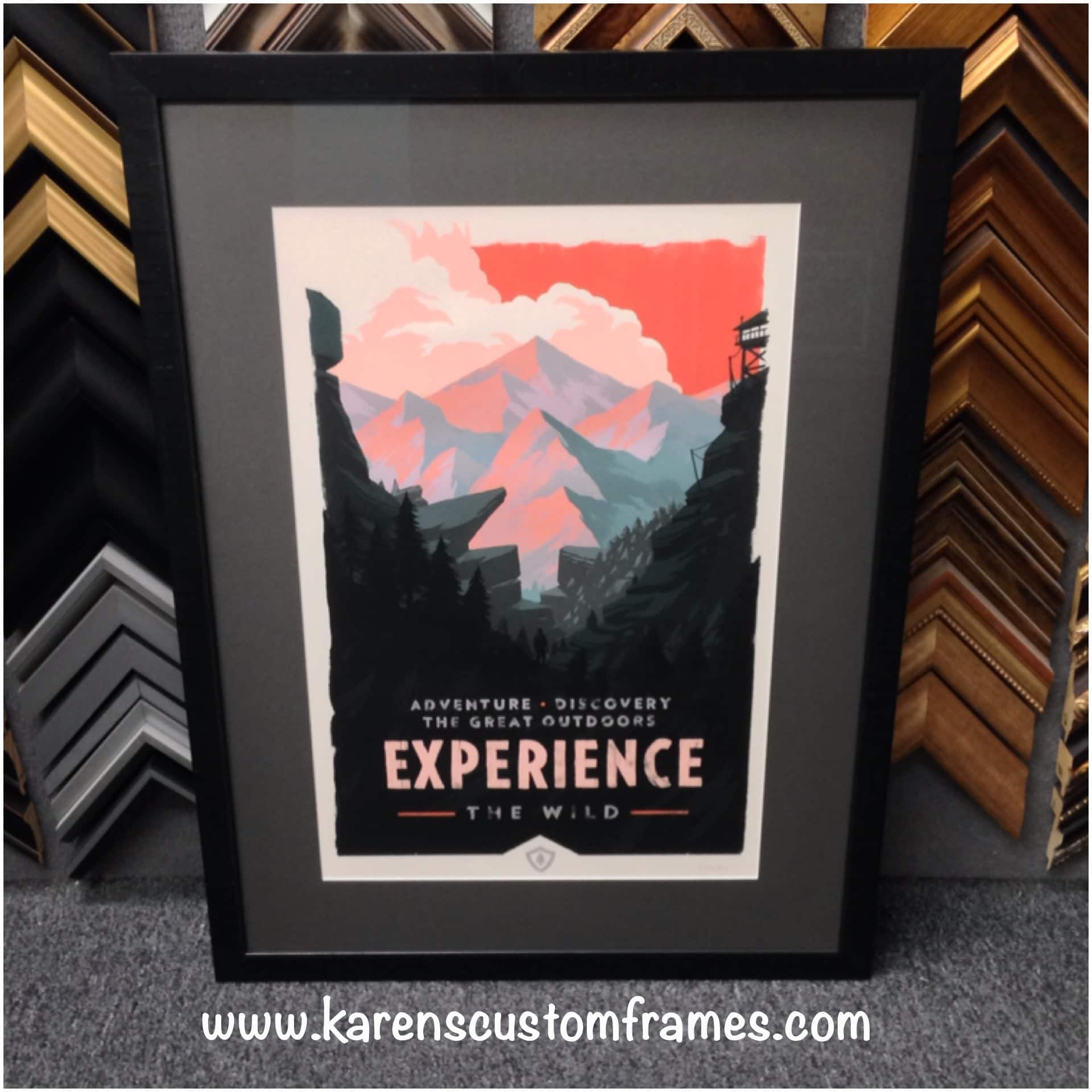 Poster Art | Custom Design and Framing by Karen's Detail Custom Frames