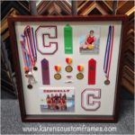 High School Sports Shadow Box Display | Custom Design and Framing by Karen's Detail Custom Frames