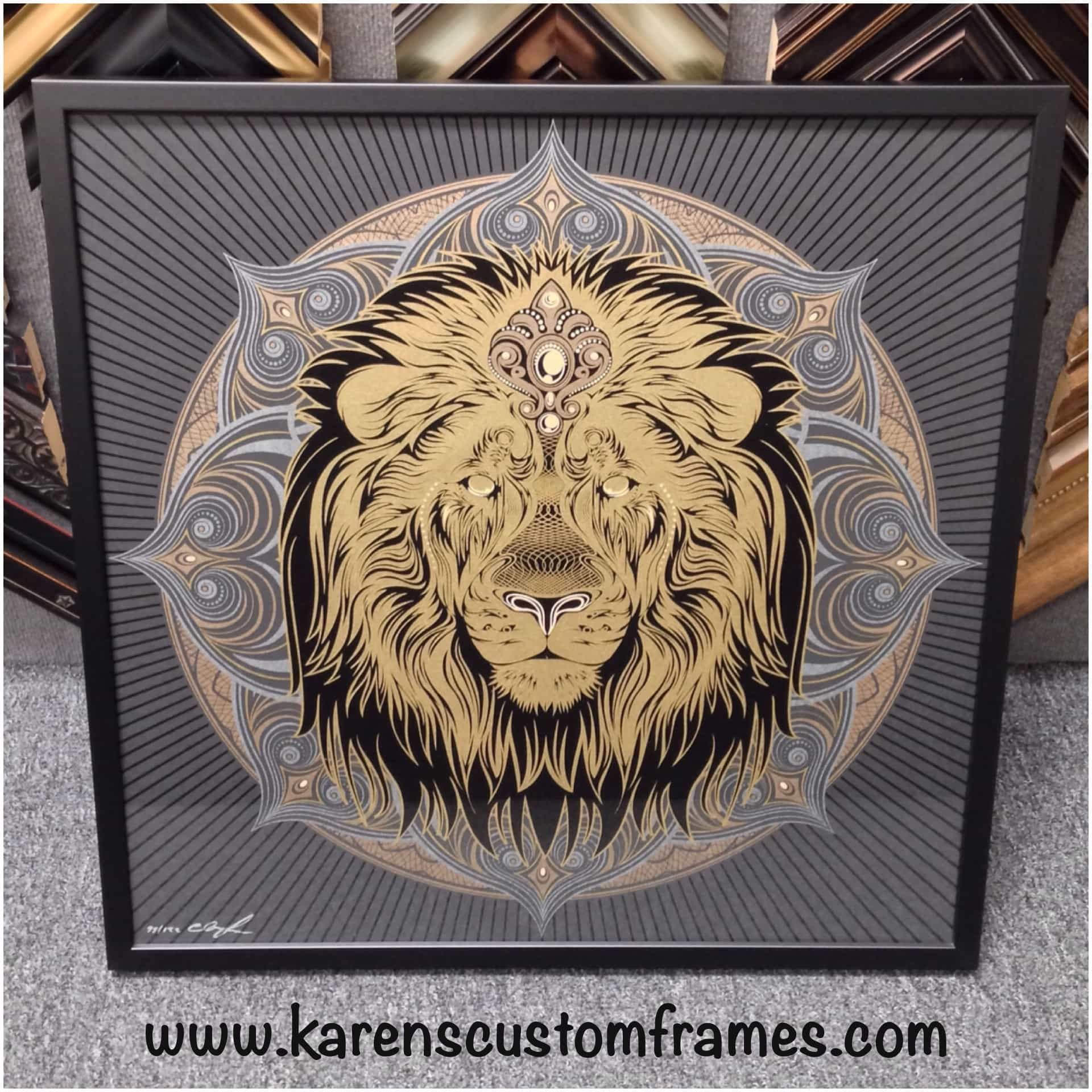 Poster Art Print | Custom Design and Framing by Karen's Detail Custom Frames