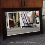Custom Framed Mirror | Custom Design and Framing by Karen's Detail Custom Frames