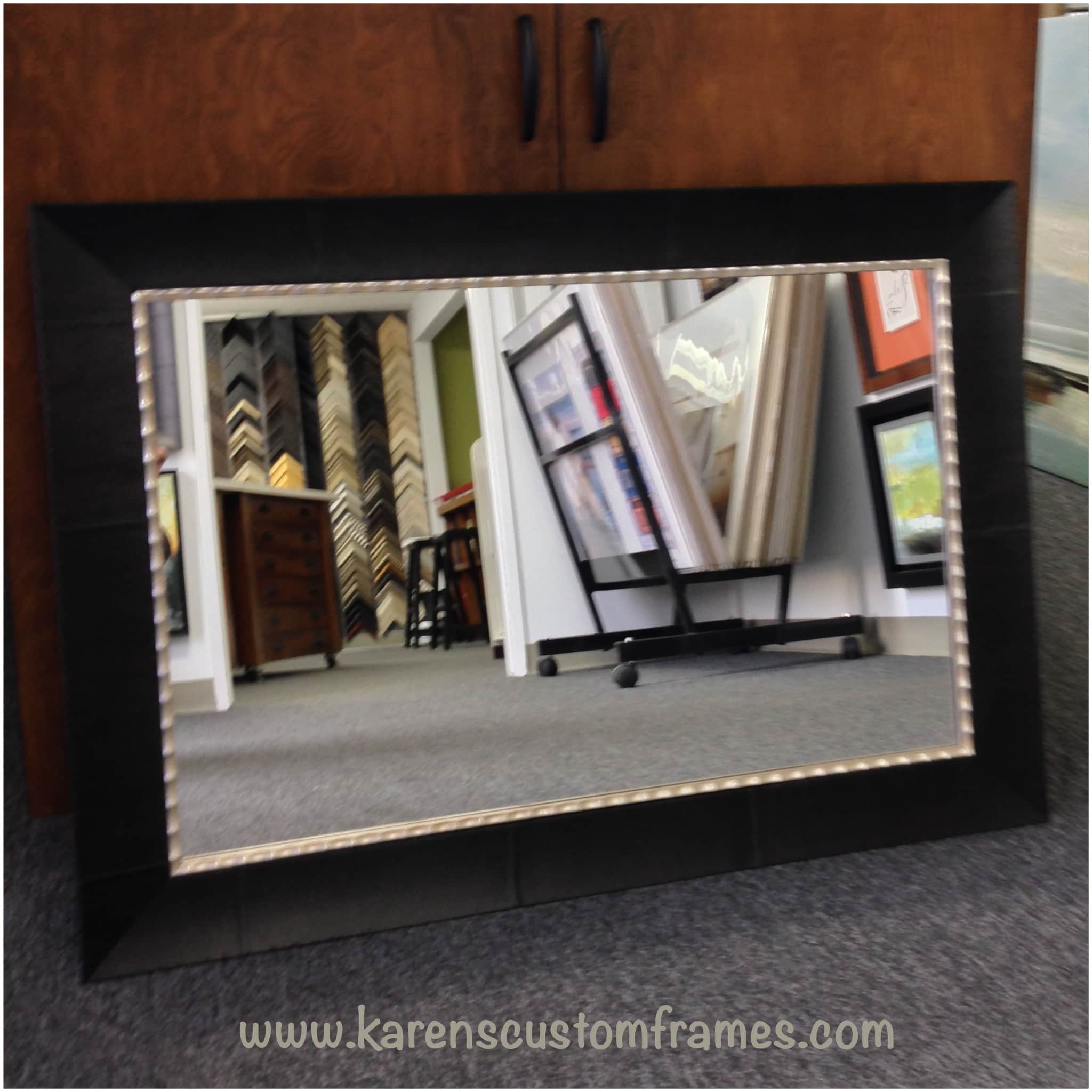 Custom Framed Mirror | Custom Design and Framing by Karen's Detail Custom Frames