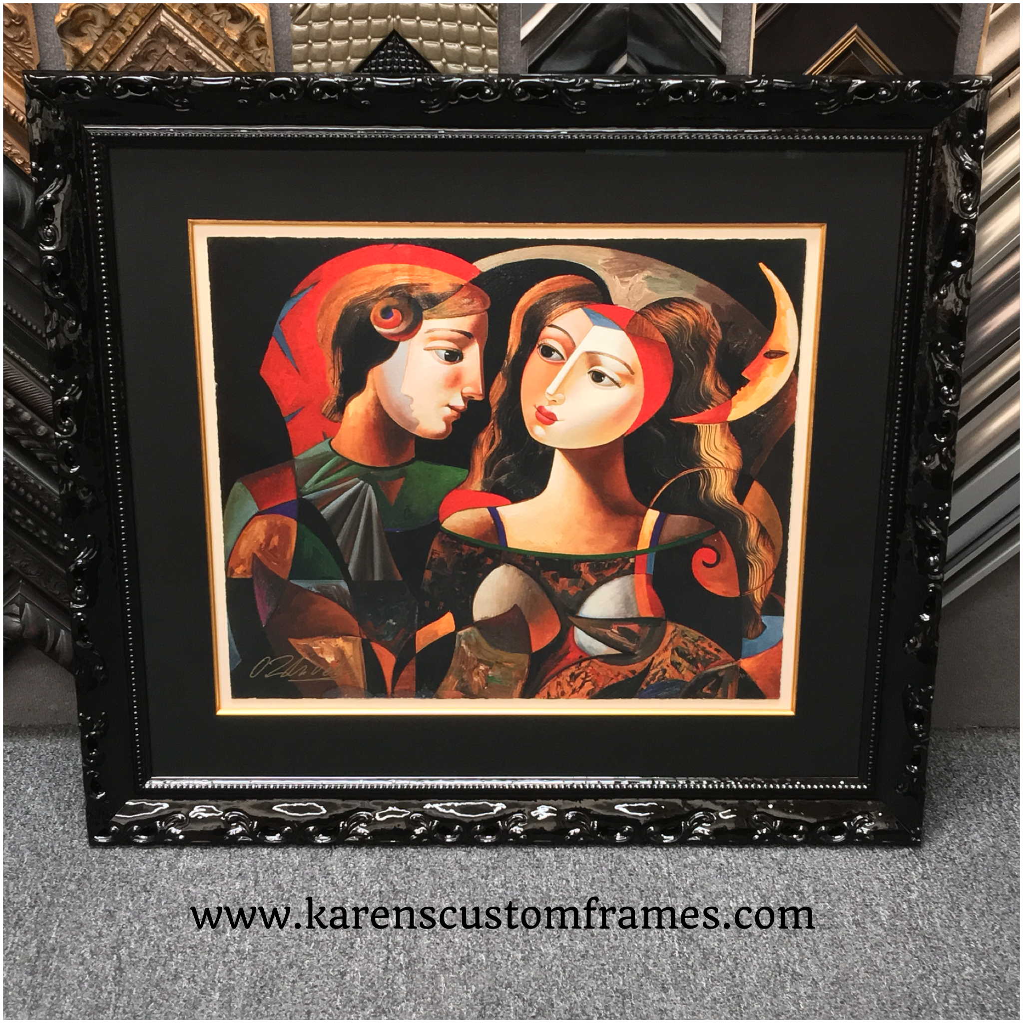Fine Art | Custom Design and Framing by Karen's Detail Custom Frames, Orange County CA