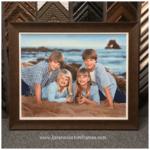 Family Photography | Custom Design and Framing by Karen's Detail Custom Frames, Orange County CA