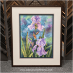 Original Watercolor | Custom Design and Framing by Karen's Detail Custom Frames, Orange County CA