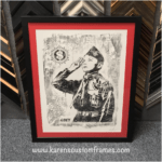 Poster Art Print | Custom Design and Framing by Karen's Detail Custom Frames, Orange County CA