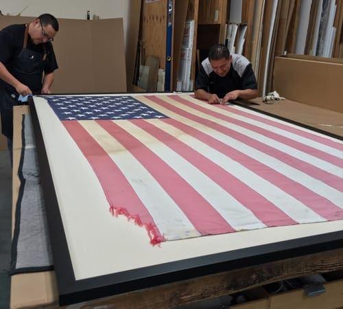 Flag Framing | Custom Design and Framing by Karen's Detail Custom Frames