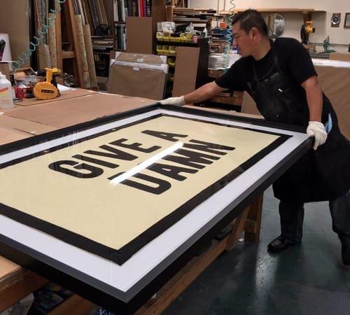 Poster Framing | Custom Design and Framing by Karen's Detail Custom Frames