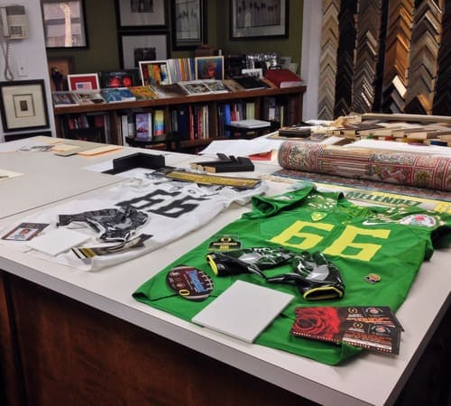 Soccer Jersey Framing | Custom Design and Framing by Karen's Detail Custom Frames