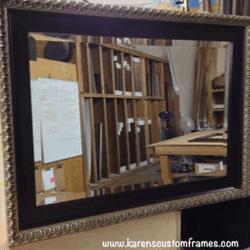 Mirror 1 | Custom Framed Mirrors | Custom Design and Framing by Karen's Detail Custom Frames