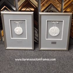 Baby Footprints | Shadowbox Display | Custom Design and Framing by Karen's Detail Custom Frames