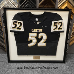 Canyon Jersey | Sports Memorabilia | Custom Design and Framing by Karen's Detail Custom Frames