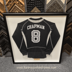 Chapman Jersey | Sports Memorabilia | Custom Design and Framing by Karen's Detail Custom Frames