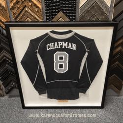Chapman Jersey | Sports Memorabilia | Custom Design and Framing by Karen's Detail Custom Frames