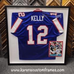 Kelly Jersey | Sports Memorabilia | Custom Design and Framing by Karen's Detail Custom Frames