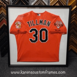 Tillman Jersey | Sports Memorabilia | Custom Design and Framing by Karen's Detail Custom Frames