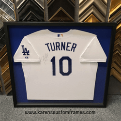 Turner Jersey | Sports Memorabilia | Custom Design and Framing by Karen's Detail Custom Frames