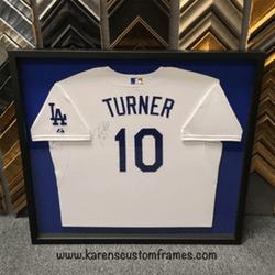 Turner Jersey | Sports Memorabilia | Custom Design and Framing by Karen's Detail Custom Frames