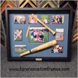 Baseball | Sports Memorabilia | Custom Design and Framing by Karen's Detail Custom Frames