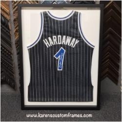 Hardaway Jersey | Sports Memorabilia | Custom Design and Framing by Karen's Detail Custom Frames