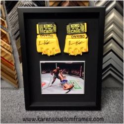 MMA | Sports Memorabilia | Custom Design and Framing by Karen's Detail Custom Frames