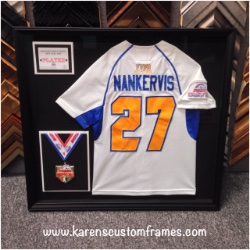 Nankervis Jersey | Sports Memorabilia | Custom Design and Framing by Karen's Detail Custom Frames