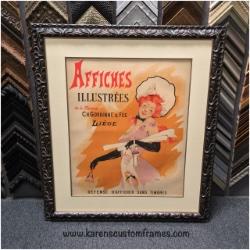 French Vintage Fine Art Poster   Custom Design and Framing by Karen's Detail Custom Frames