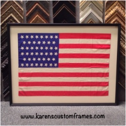American Flag 2 | Shadowbox Display | Custom Design and Framing by Karen's Detail Custom Frames
