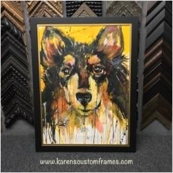 Original Painting on Canvas   Custom Design and Framing by Karen's Detail Custom Frames
