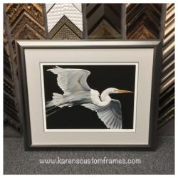 Signed Fine Art Print    Custom Design and Framing by Karen's Detail Custom Frames