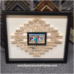 Happy Couple | Shadowbox Display | Custom Design and Framing by Karen's Detail Custom Frames