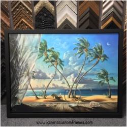 Signed Gallery Wrapped Canvas Art | Custom Design and Framing by Karen's Detail Custom Frames