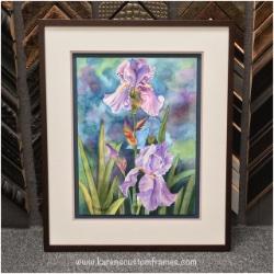Original Watercolor Painting | Custom Design and Framing by Karen's Detail Custom Frames