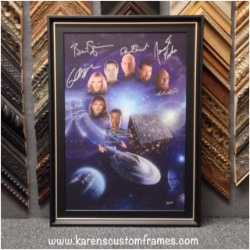 Signed Star Trek Poster   Custom Design and Framing by Karen's Detail Custom Frames