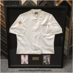 Top Chef | Shadowbox Display | Custom Design and Framing by Karen's Detail Custom Frames