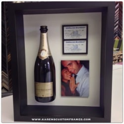 Wedding Proposal | Shadowbox Display | Custom Design and Framing by Karen's Detail Custom Frames