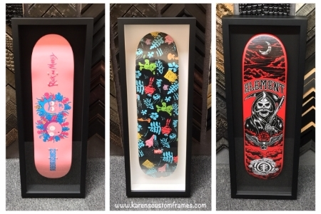 Skateboard Deck Display Frames