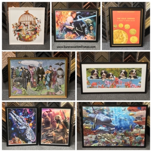 collage of 7 different jigsaw puzzles